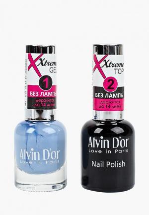 Набор гель-лаков Alvin Dor D'or Гель Xtreme extreme (Лак+Top) 2х15мл.5235 тон MIX 35. Цвет: прозрачный