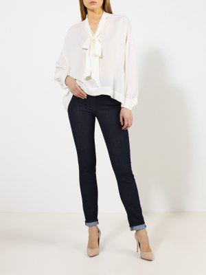 Зауженные джинсы Trussardi Jeans. Цвет: siniy
