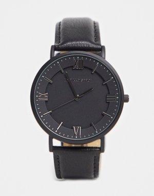 Классические часы черного/темно-серого цвета -Черный ASOS DESIGN