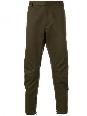 Классические байкерские брюки Lanvin. Цвет: зелёный