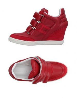 Низкие кеды и кроссовки KATIE GRAND LOVES HOGAN. Цвет: красный