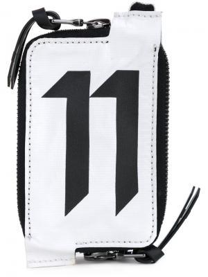 Кошелек с принтом логотипа 11 By Boris Bidjan Saberi. Цвет: белый