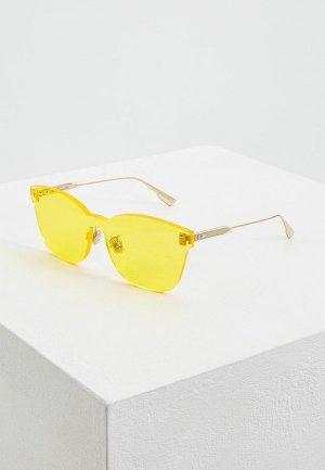 Очки солнцезащитные Christian Dior DIORCOLORQUAKE2 40G. Цвет: желтый