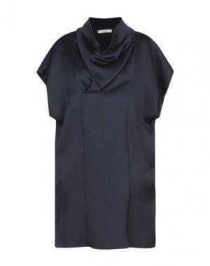 Короткое платье CELINE. Цвет: темно-синий