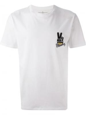Футболки и жилеты Golden Goose Deluxe Brand. Цвет: белый