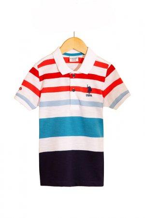 Поло U.S. Polo Assn.. Цвет: vr033 белый, темно-синий