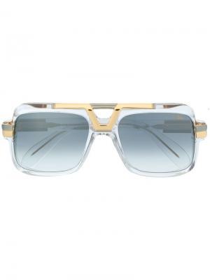 Солнцезащитные очки в массивной оправе Cazal. Цвет: белый