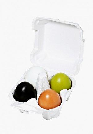 Мыло Holika уголь+глина+зеленый чай+белок яйца «Эгг Соап» , 50г+50г+50г+50г. Цвет: разноцветный