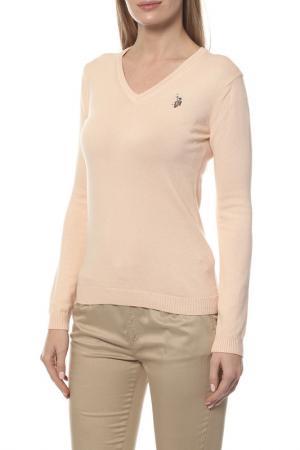 Пуловер U.S. Polo Assn.. Цвет: бордовый