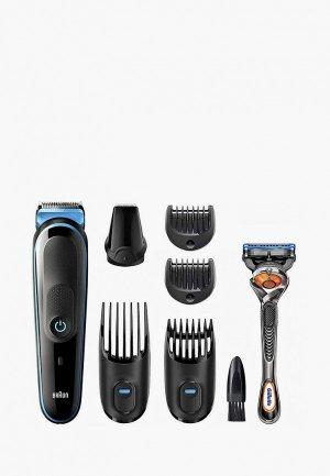 Набор Braun Машинка для стрижки MGK5245 + Бритва Gillette. Цвет: черный