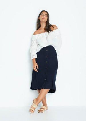 Струящаяся миди-юбка - Patricia Mango. Цвет: темно-синий