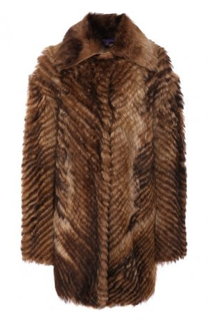 Шуба из овчины Ralph Lauren. Цвет: коричневый