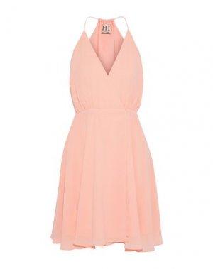 Короткое платье HAUTE HIPPIE. Цвет: розовый