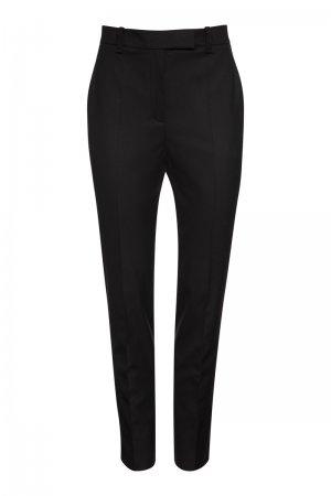 Зауженные базовые брюки VASSA&Co. Цвет: черный