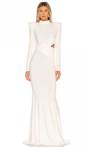Вечернее платье message to love Zhivago. Цвет: белый