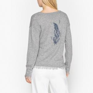 Пуловер с V-образным вырезом, GORDON BERENICE. Цвет: серый
