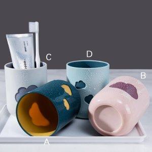 Чашка зубной щетки 1шт SHEIN. Цвет: многоцветный