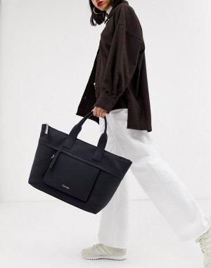 Черная большая сумка-тоут -Черный Calvin Klein