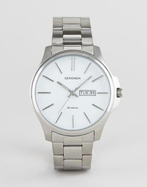 Серебристые наручные часы с окошком даты Sekonda - Серебряный