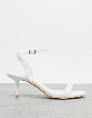 Белые сандалии с ремешком на щиколотке -Белый Glamorous