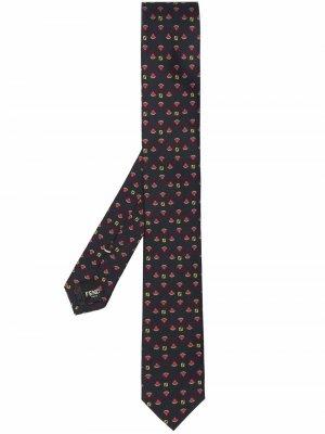 Watermelon monogram pattern tie Fendi. Цвет: черный