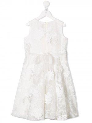 Платье с цветочным кружевом Aletta. Цвет: белый