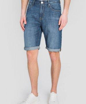 Льняные джинсовые шорты O`Stin. Цвет: синий