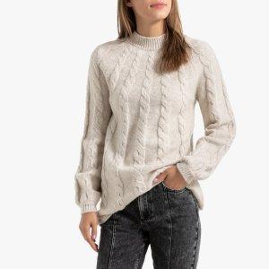 Пуловер-туника La Redoute. Цвет: бежевый