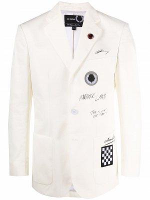 Куртка с принтом граффити Raf Simons X Fred Perry. Цвет: нейтральные цвета
