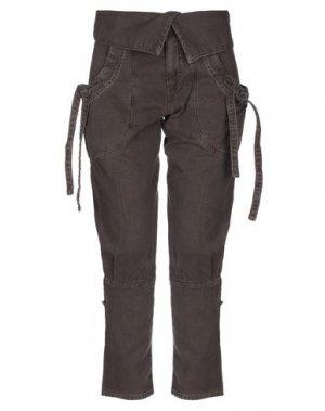 Джинсовые брюки-капри KILLAH. Цвет: темно-коричневый