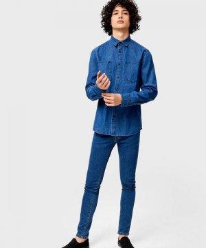 Базовая джинсовая рубашка O`Stin. Цвет: синий