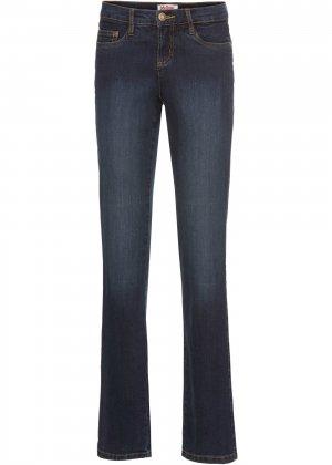 Расклешенные джинсы-стретч bonprix. Цвет: синий