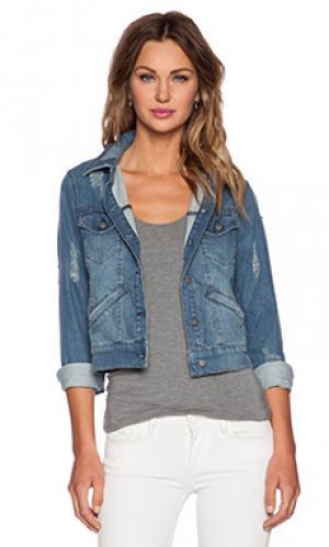 Рваная джинсовая куртка The Kooples. Цвет: none
