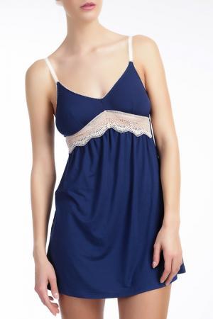 Ночная сорочка Ella Moss. Цвет: синий