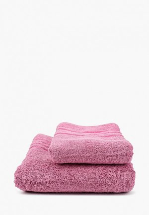 Набор полотенец HappyFox. Цвет: розовый