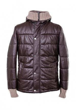 Куртка утепленная AFG. Цвет: коричневый