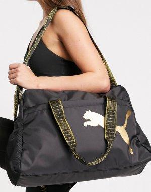 Черная спортивная сумка PUMA-Черный цвет Puma