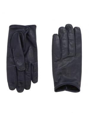 Перчатки VALENTINO GARAVANI. Цвет: синий