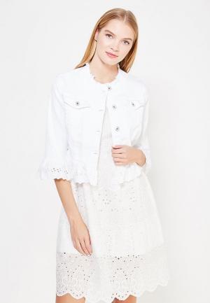 Куртка джинсовая Rinascimento. Цвет: белый