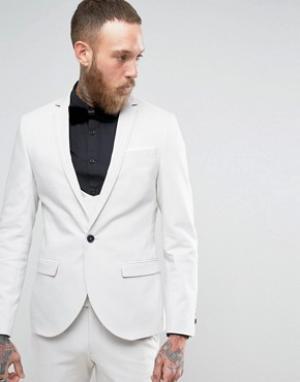 Супероблегающий пиджак с двойным кантом -Серый Noose & Monkey