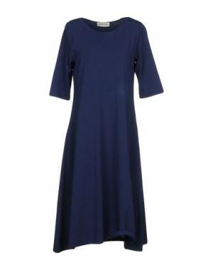 Платье до колена BIONEUMA NATURAL FASHION. Цвет: темно-синий