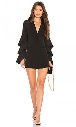 Мини платье с курткой andree NBD. Цвет: черный
