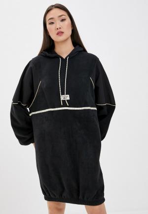 Платье Reebok Classic CL GP WE HOODED DRESS. Цвет: черный