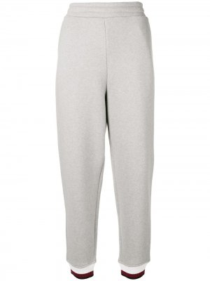 Contrast band track pants T By Alexander Wang. Цвет: серый