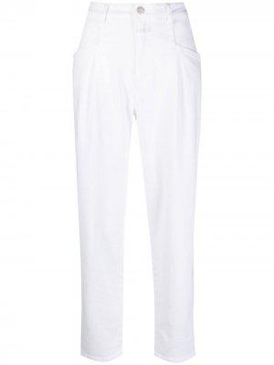 Укороченные джинсы с завышенной талией Closed. Цвет: белый