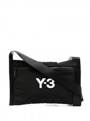 Сумка через плечо с логотипом Y-3. Цвет: черный