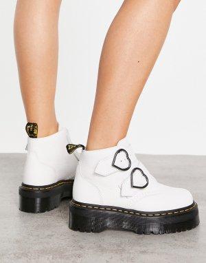 Белые ботинки Devon Heart-Белый Dr Martens