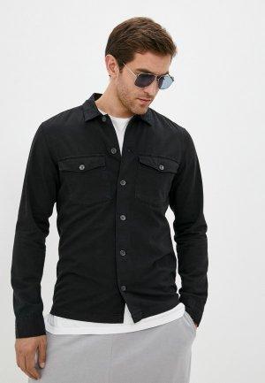 Рубашка джинсовая AllSaints. Цвет: черный