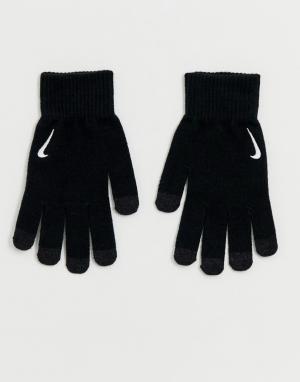 Черные трикотажные перчатки Running-Черный Nike