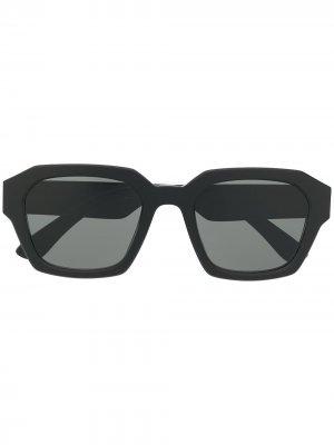 Солнцезащитные очки в квадратной оправе MYKITA+MAISON MARGIELA. Цвет: черный